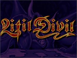 Title screen of Litil Divil on the Commodore Amiga CD32.