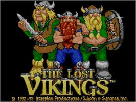 Title screen of Lost Vikings on the Commodore Amiga CD32.