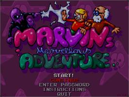 Title screen of Marvin's Marvellous Adventure on the Commodore Amiga CD32.