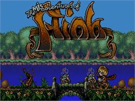 Title screen of Misadventures of Flink on the Commodore Amiga CD32.