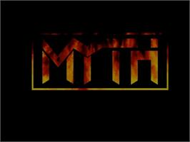 Title screen of Myth: History in the Making on the Commodore Amiga CD32.