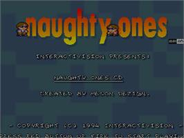 Title screen of Naughty Ones on the Commodore Amiga CD32.