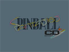 Title screen of Pinball Fantasies on the Commodore Amiga CD32.