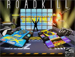 Title screen of Roadkill on the Commodore Amiga CD32.
