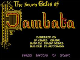 Title screen of Seven Gates of Jambala on the Commodore Amiga CD32.