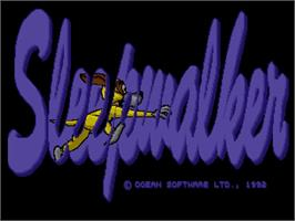 Title screen of Sleepwalker & Pinball Fantasies on the Commodore Amiga CD32.