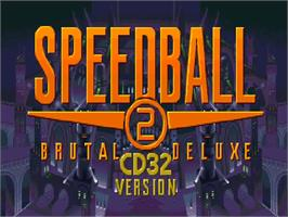Title screen of Speedball 2: Brutal Deluxe on the Commodore Amiga CD32.