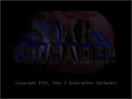 Title screen of Star Crusader on the Commodore Amiga CD32.