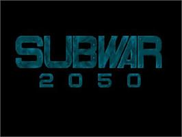 Title screen of Subwar 2050 on the Commodore Amiga CD32.