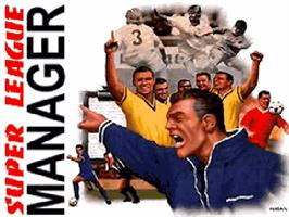 Title screen of Super League Manager on the Commodore Amiga CD32.