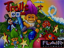 Title screen of Trolls on the Commodore Amiga CD32.