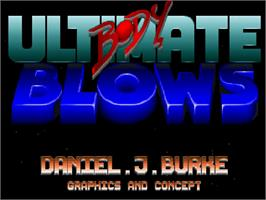Title screen of Ultimate Body Blows on the Commodore Amiga CD32.