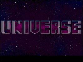 Title screen of Universe on the Commodore Amiga CD32.