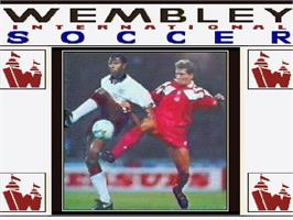Title screen of Wembley International Soccer on the Commodore Amiga CD32.