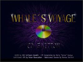 Title screen of Whale's Voyage on the Commodore Amiga CD32.