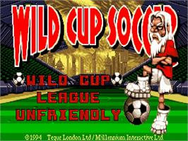 Title screen of Wild Cup Soccer on the Commodore Amiga CD32.