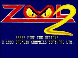 Title screen of Zool 2 on the Commodore Amiga CD32.