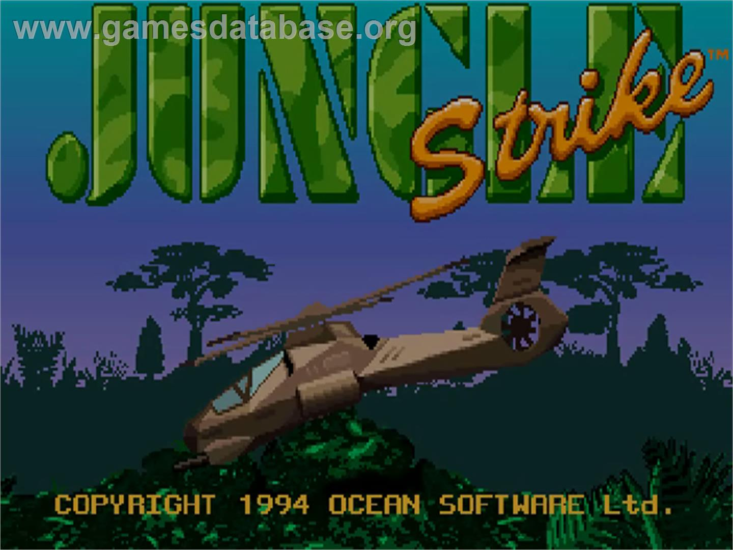 Jungle Strike - Commodore Amiga CD32 - Artwork - Title Screen