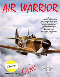 Box cover for Air Warrior on the Commodore CDTV.