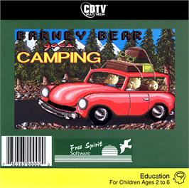 Box cover for Barney Bear Goes Camping on the Commodore CDTV.