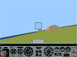 In game image of Air Warrior on the Commodore CDTV.