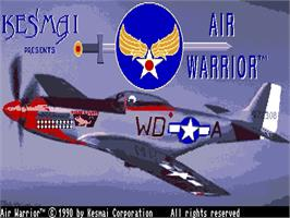 Title screen of Air Warrior on the Commodore CDTV.