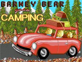 Title screen of Barney Bear Goes Camping on the Commodore CDTV.