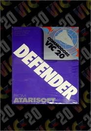 Box cover for Defender on the Commodore VIC-20.