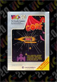 Box cover for Gorf on the Commodore VIC-20.