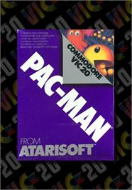 Box cover for Pac-Man on the Commodore VIC-20.