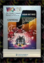 Box cover for Radar Rat Race on the Commodore VIC-20.