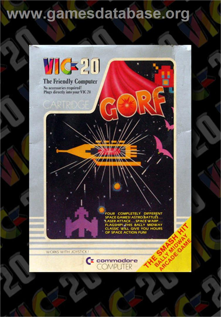 Gorf - Commodore VIC-20 - Artwork - Box