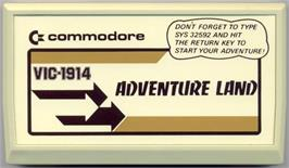 Cartridge artwork for Adventure Land on the Commodore VIC-20.