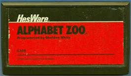 Cartridge artwork for Alphabet Zoo on the Commodore VIC-20.