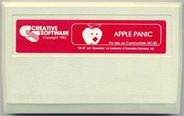 Cartridge artwork for Apple Panic on the Commodore VIC-20.