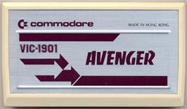 Cartridge artwork for Avenger on the Commodore VIC-20.