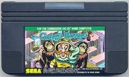 Cartridge artwork for Congo Bongo on the Commodore VIC-20.