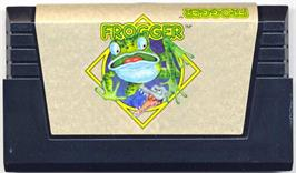 Cartridge artwork for Frogger on the Commodore VIC-20.