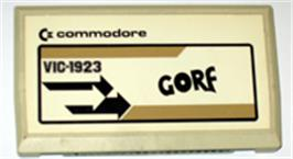 Cartridge artwork for Gorf on the Commodore VIC-20.