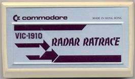 Cartridge artwork for Radar Rat Race on the Commodore VIC-20.