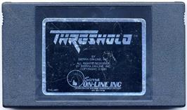 Cartridge artwork for Threshold on the Commodore VIC-20.