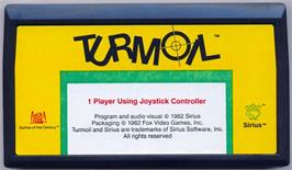 Cartridge artwork for Turmoil on the Commodore VIC-20.