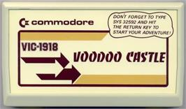 Cartridge artwork for Voodoo Castle on the Commodore VIC-20.