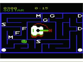 In game image of Alphabet Zoo on the Commodore VIC-20.