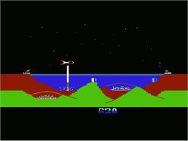 In game image of Atlantis on the Commodore VIC-20.