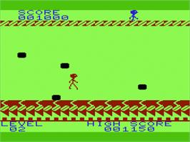 In game image of Aztec Challenge on the Commodore VIC-20.