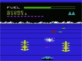 In game image of Buck Rogers: Planet of Zoom on the Commodore VIC-20.
