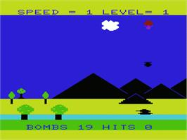 In game image of CannonBall Blitz on the Commodore VIC-20.
