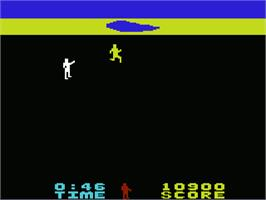 In game image of Chuck Norris Superkicks on the Commodore VIC-20.