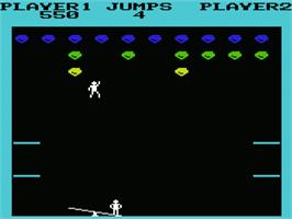 In game image of Clowns on the Commodore VIC-20.